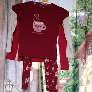 Girls Gymboree winter owl and hot chocolate bundle